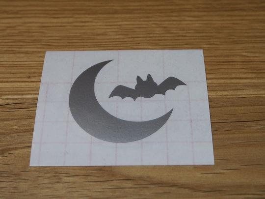 ハロウィン:月とコウモリ